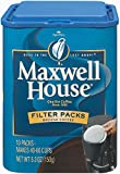 Maxwell House Coffee Ground Filter Packs, 5.3 oz