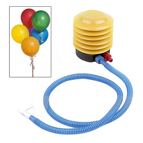 KINGSO Yellow Foot Step Air Pump Inflator + Hose for Swim Ring balloon yoga ball Inflatable