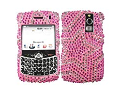 Star Pink Bling Rhinestone Faceplate Diamond Silver Baby Crystal Hard Skin Case Cover for Blackberry Curve 8300 8310 8320 8330
