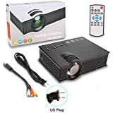 Eshion Portable Basic Mini Video Projector Home Theater With Remote For Home Entertainment (Black)