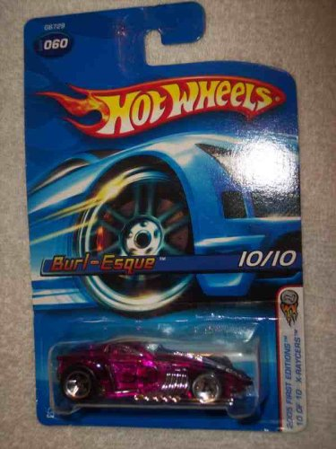 2005 First Editions X-Raycers -#10 Burl-Esque Large Front Wheel #2005-60 Collectible Collector Car Mattel Hot Wheels - 1