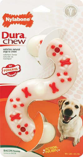 Nylabone DuraChew S-Shape Bacon Flavor Dog Toy, X-Large Chew