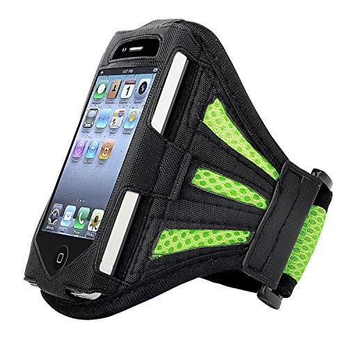 Insten Deluxe Armband for iPod touch 2G/3G (Black/Green)