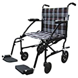51WgKU5Ij%2BL. SL160  Drive Medical Fly Lite Ultra Lightweight Transport Wheelchair, Black Frame, 19