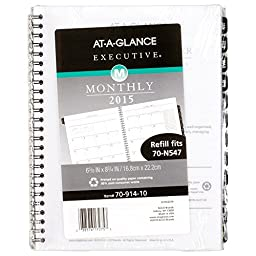 AT-A-GLANCE Executive Monthly Planner Refill 2016, 6.88 x 8.75 Inches (70-914-10)
