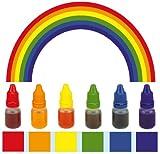 Städter Speisefarben flüssig 6-er Sparset - Regenbogenfarben
