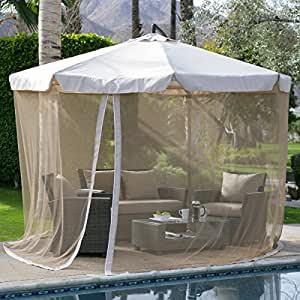 coral coast 11 ft offset umbrella with