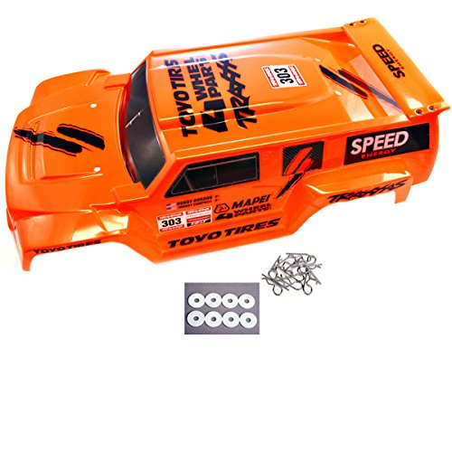 Traxxas 1/10 Slash 2WD Robby Gordon * DAKAR EDITION ORANGE BODY, CLIPS & WASHERS