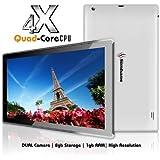 Simbans (TM) SX2W 10 Zoll Quad Core Tablet PC - dünn, leicht und leistungsstark -Android 4.4 KitKat, HD, 1Gb, 8GB
