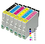 8 Inks(T0801*3 T0802*1 T0803*1T0804*1 T0805*1 T0806*1) Epson Stylus Photo P50 PX650 PX700W PX710W PX720WD PX800FW PX810FW PX820FWD R265 R285 R360 RX560 RX585 RX685 printers