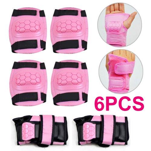 TOOGOO(R) Ragazzi Ragazze Sci pattinaggio protezioni Set per polsi, gomiti ginocchia polsiere gomitiere,ginocchiere per bambini