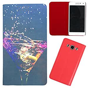 DooDa - For Samsung Galaxy A5 PU Leather Designer Fashionable Fancy Flip Case Cover Pouch With Smooth Inner Velvet