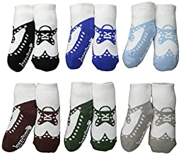 JazzyToes Baby Socks Wingtips   Boys', 12 24 Months