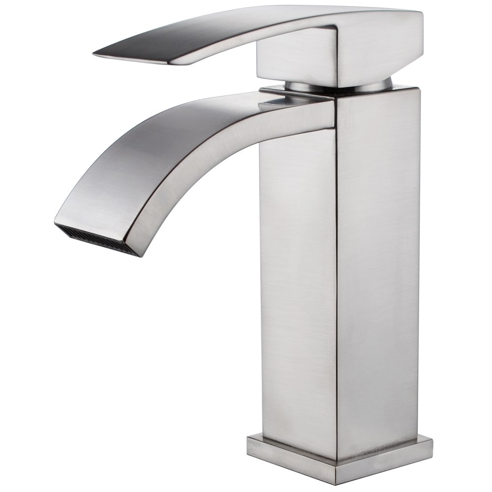 Single Handle Waterfall Bathroom Vanity Sink Faucet