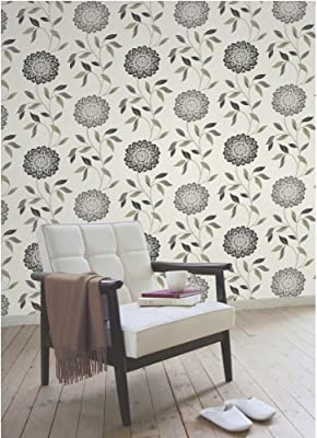 Chloe Floral Print Luxury Wallpaper Natural Blossom Flower Leaf