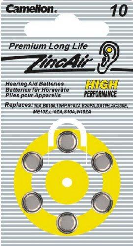 CAMELION prothèses auditives zinc air a10/6, sous blister