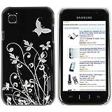mumbi Schmetterling Blumen H�lle Samsung Galaxy S PLUS i9001 / Samsung Galaxy S i9000  (Harte R�ckseite)