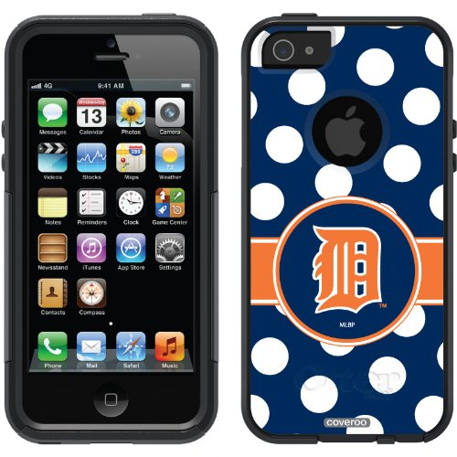 Special Sale Detroit Tigers - Polka Dots design on a Black OtterBox® Commuter Series® Case for iPhone 5s / 5
