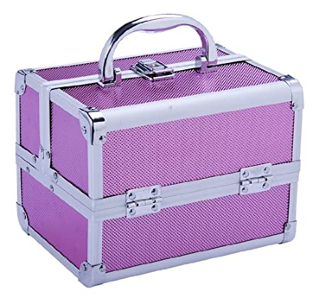 Soozier Professional Makeup Artist Cosmetic Travel Mini Case with Pull-Out Trays - Pink at Sears.com
