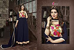 Shree Fashion Woman's Georgette With Dupatta [Shree (21)_Blue]