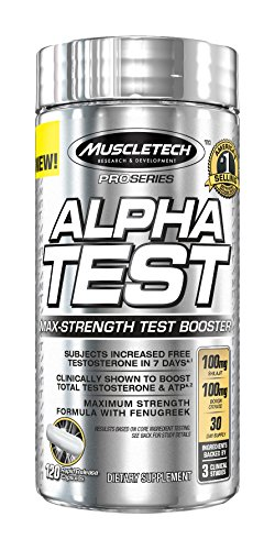 Now increase free(active) testosterone, decrease estradiol and increase ATP with only one product.  Alpha Test by MuscleTech is formulated with boron citrate that supplies a precise dose of boron shown in a recent 2011 scientific research study on eight healthy male volunteers to increase free(active) testosterone levels and decrease estradiol levels within normal range.  It also includes a patented form of shilajit broccoli powder, fenugreek and zinc to increase ATP and free testosterone and decrease estradiol.  ATP is crucial for maintaining work capacity, protein synthesis and vasodilation. Testosterone is the king of all male hormones and is a potent muscle builder. The reduced estradiol makes sure that you do not accumulate fat easily.  This is a must have in every male's arsenal.