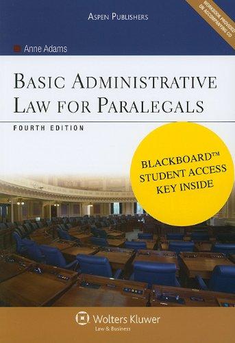 Basic Administrative Law for Paralegals 4e Bundle