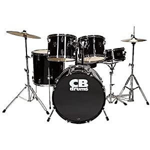 CB Drums CB5 5pc Drumset  w/ Throne, Black