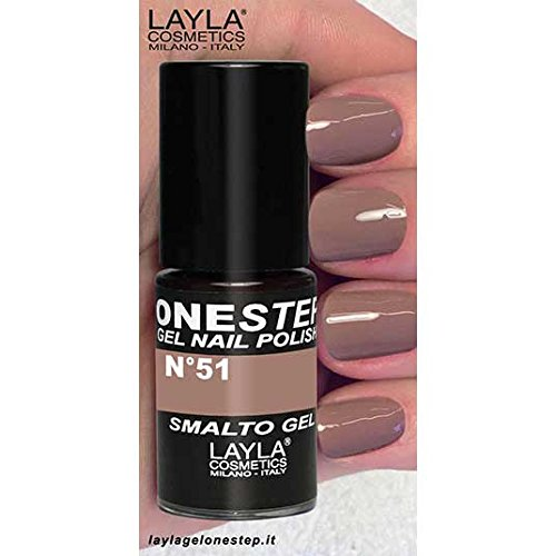 Layla Cosmetics - One Step Gel Smalto, Choco Love, 1er Pack (1 x 5 ml)