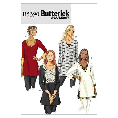 Cheapest Prices! Butterick Patterns B5390 Misses' Tunic, Size ZZ (LRG-XLG-XXL)
