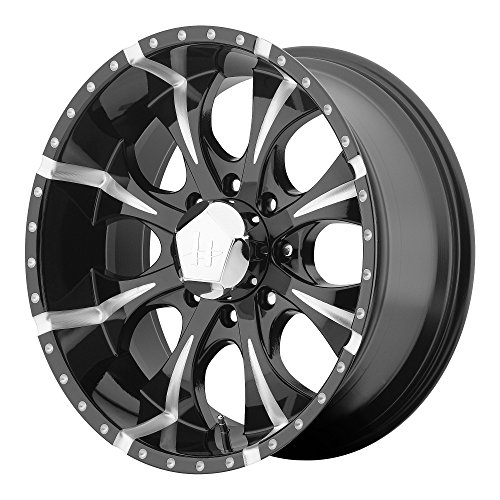 Helo HE791 Maxx Gloss Black Wheel With Milled Accents (16x8