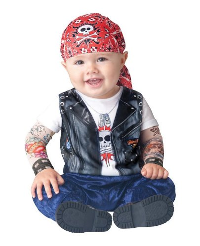Born To Be Wild Baby Costume - 6-12 Months front-1042928
