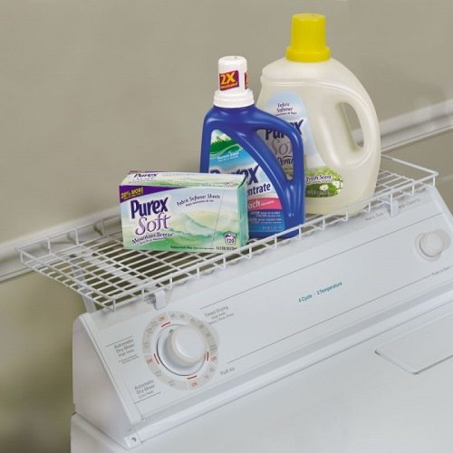 Washer dryer laundry room storage shelf organizer rack for Free room organizer