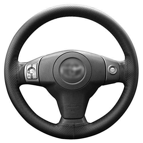 Lemonbest C0196 Universal Anti Slip Leather Car Steering Wheel Stitch On Wrap Cover, 106cm, Black