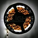 HitLights LED Flexible Lighting Strip Cool White or Bright White, 5 Meter or 16 Ft, 300SMD, 24 Watt