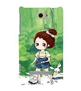 EPICCASE Gorgeous Girl and Rabbit Mobile Back Case Cover For HTC One M10 (Designer Case)