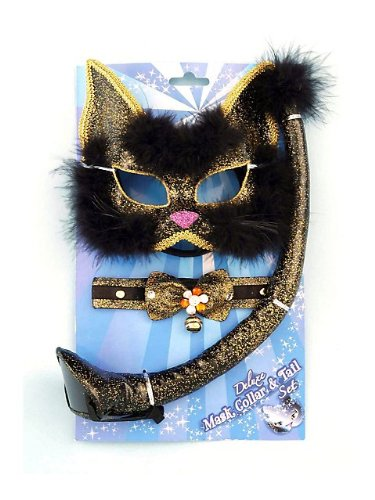 Deluxe Black Glitter Cat Costume Kit
