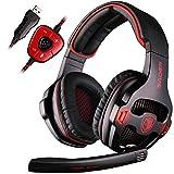 SADES SA903 7.1 Surround Sound Stereo Professionelle PC USB Gaming Headset Stirnband Kopfhörer mit Mikrophon