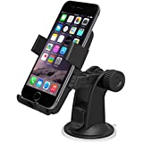 Car Mount, iOttie Easy One Touch Windshield Dashboard Car Mount Holder for iPhone 6 (4.7)/ 5s/ 5c/4s, Galaxy S4/S3//S2. HTC One-Retail Packaging-Black