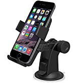 Car Mount, iOttie HLCRIO102 One Touch Windshield Dashboard Car Mount Holder for iPhone 6 (4.7)/ 5s/ 5c/4s, Galaxy S4/S3//S2. HTC One- Retail Packaging- Black