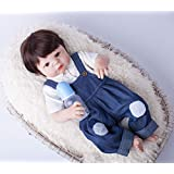 Best Quality - Dolls - 55cm Full Body Silicone Reborn Baby Doll Toys Play House Newborn Boy Baby Birthday Gift Christmas Present Bathe Toy - by Panathlatic - 1 PCs