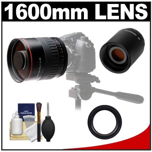 Vivitar 800Mm F/8 Mirror Lens With 2X Teleconverter (=1600Mm) + Accessory Kit For Nikon D3200, D3300, D5200, D5300, D7000, D7100, D610, D800, D810, D4S Dslr Cameras
