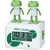 リズム時計[シチズン]ケロクロック2 カエルのおしゃべり目覚し時計 8RDA46RH03 白デジタル