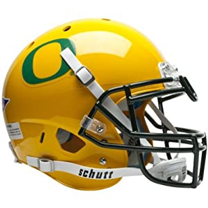 OREGON DUCKS Schutt AiR XP Full-Size AUTHENTIC Football Helmet (YELLOW) by ON-FIELD
