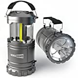 HeroBeam LED Lantern V2.0 with Flashlight - 2016 COB Technology emits 300 LUMENS! - Collapsible Tough Lamp - Great Light for Camping, Car, Shop, Attic, Garage - BEST SELLING LANTERN IN THE UK!