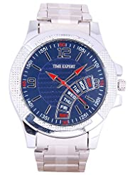 Time Expert Analogue Blue Dial Men's Watch - TE100346