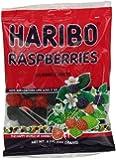 Haribo Gummi Candy, Raspberries, 5-Ounce Bags (Pack of 12)