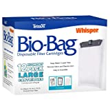 Tetra 26164 Whisper Bio-Bag Cartridge, Unassembled Large, 12 pk