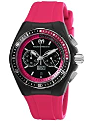 TechnoMarine Unisex 110016 Cruise Sport Chronograph Black and Pink Dial Watch