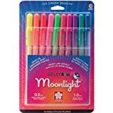 Sakura 38176 10-Piece Gelly Roll Assorted Colors Blister Card Moonlight 10 Bold Point Gel Ink Pen Set