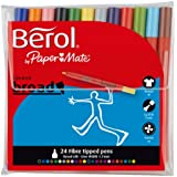 Berol Colour Broad Pen - Assorted Colours (Pack of 24)
